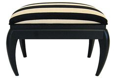 Art Deco-Style Striped Bench on OneKingsLane.com