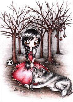 Girl and the wolf by ~MoonlightPrincess on deviantART