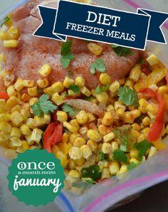 Diet January 2013 Freezer Menu  #diet  #freezer