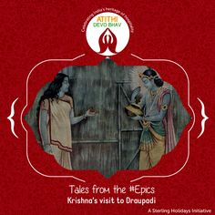 When the Pandavas were in exile, Krishna visited them with his men to show their support. The #Pandavas received them well with a traditional ceremony. However, Krisna spotted #Draupadi weeping. On being asked, Draupadi said that all she had to present to the #guests was a single grain of rice stuck to the pot. Krishna, overwhelmed by her #hospitality, ate the single grain of rice and miraculously the hunger in the entire world was satiated for that day. #AtithiDevoBhav #GuestisGod