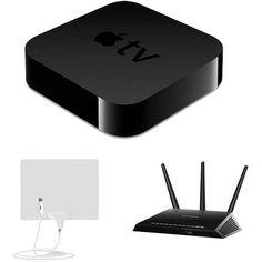 Apple TV, Netgear Router, Mohu Leaf Antenna Bundle - Cut the Cable Review