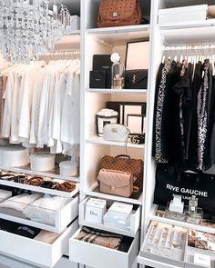𝐕𝐄𝐑𝐄𝐍𝐀 | Fashion Blogger on Instagram  #closet #pax #ankleidezimmer #kleiderschrank #ikeapax #wardrobe #dressingroom Walk In Closet Design, Bedroom Closet Design, Room Ideas Bedroom, Closet Designs, Bedroom Decor, Wardrobe Room, Dressing Room Design, Glam Room, Dream Closets
