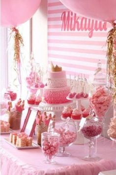 Cute dessert table.