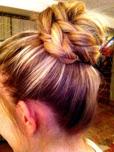 Megan's braided top knot that I did!