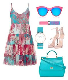 """""""Blue and Pink set fashion"""" by daniellecarso on Polyvore featuring Giuseppe Zanotti, Falcone and Le Specs"""