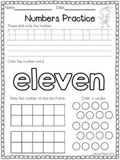 Flying into First Grade: Numbers 11 - 20 Teaching Numbers, Numbers Preschool, Writing Numbers, Math Numbers, Preschool Worksheets, Math Resources, Teaching Math, Math Activities, Number Writing Practice