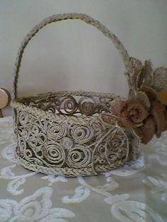 Tutorial per realizzare un cestino con lo spago - Il blog italiano sullo Shabby Chic e non solo