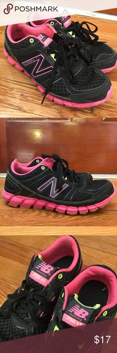 New Balance running shoes 750 v1 black/pink/green New Balance running shoes in very good used condition. Worn maybe less than a handful of times. Size 7 New Balance Shoes Sneakers