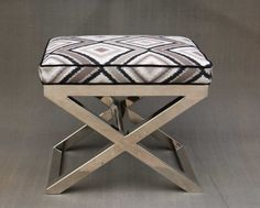 Hollywood Regency Chrome X Bench by CCDeuxVie on Etsy