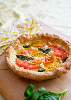 Tomato Basil Feta Tart   by Jackie Fogartie photo by | Kristen LeQuire Photography |