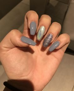 Acrylic coffin shaped nails