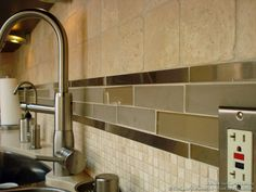 Backsplash Designs For Kitchen kitchen idea of the day: creamy subway tile backsplash behind the