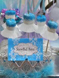 DIY disney frozen marshmallow snowball pop for 2014 Halloween party - blue sprinkles - fashion sportsdailyheadlines.com