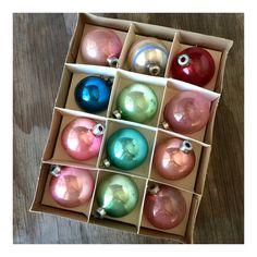 Vintage Mercury Glass Ornaments  Pastel by JustSmashingDarling