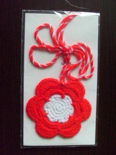 Ръчно изработена мартеница Червено цвете My Heritage, Bulgaria, My Heart, Crochet Earrings, Easter, Holiday, Diy, Vacations, Bricolage