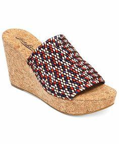 adf8f511ffb8 Lucky Brand Women s Marilynn Platform Wedge Slide Sandals Shoes - Sandals   Flip  Flops - Macy s