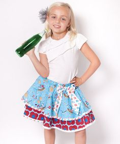 Love this Aqua Hey Sailor Mia Tee & Skirt - Infant & Toddler on #zulily! #zulilyfinds