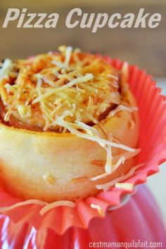 PIZZA CUPCAKES pour sortie scolaire apéro buffet picnic summer parties !