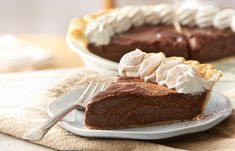Try this delicious Classic Chocolate Cream Pie, made with HERSHEY'S KISSES.