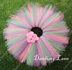 Pink Baby Girl Tutu with purple and green, 1st Birthday, photo prop or flower girl, choose from newborn,3,6,9,12,18,24 mos -MINI BONBON on Etsy, $29.95