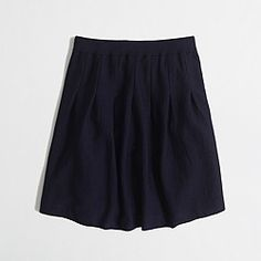 Factory pleated wool skirt