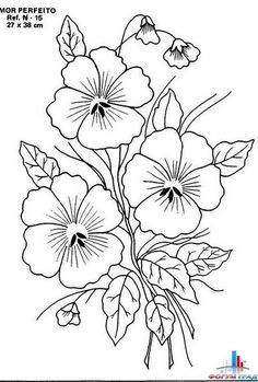 Floral Embroidery Patterns, Hand Embroidery Designs, Vintage Embroidery, Flower Patterns, Flower Pattern Drawing, Embroidery Transfers, Hand Embroidery Stitches, Ribbon Embroidery, Crewel Embroidery