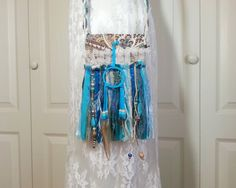 Hippie Gypsy SMALL Fringe Bag  Cross Body Cell Phone by Pursuation