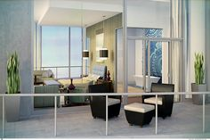 Bring to life your vision of the ultimate sophisticated master suite with floor to ceiling windows, 2 private balconies and beautiful sunset views.Picture is rendering.