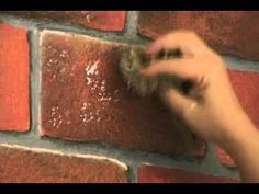 Faux Brick Painting on Wall