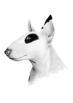 dog : Bull Terrier #dog #painting