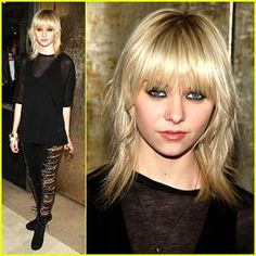 Taylor Momsen choppy haircut