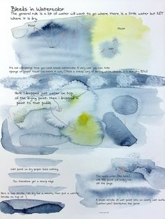 Watercolor bleeds notes by *StevenLipton on deviantART