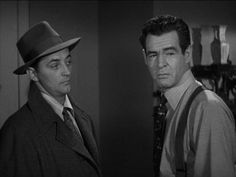 The Racket, 1951, Film Noir, Robert Mitchum, Robert Ryan Though they were stablemates at RKO for years,this is their only film together