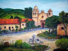 Clint Eastwood's Home Carmel California California Missions, Carmel California, Clint Eastwood, Spanish, Oil, Mansions, House Styles, Painting, Manor Houses