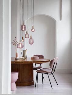 Pink Large Light Bulbs Creative Light Bulb Ideas for Homes and Hotels Beautiful Quartz Pink Light Bu Lamp Design, Interior, Light Bulbs, Lamp, Creative Lighting, Bedside Lamps Design, Home Decor, Light, Interior Design
