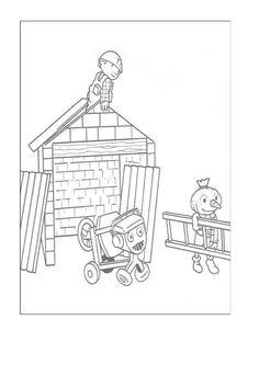 Byggmester Bob Fargelegging for barn. Tegninger for utskrift og fargelegging nº 24