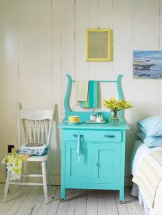 Teal wash stand