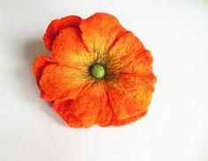 Felted flower broochfelt broochfelt brooch flower felt pin