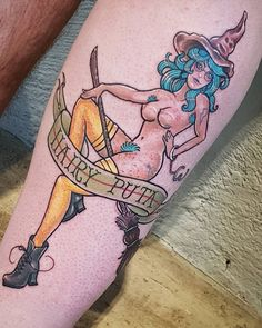 """Neo-traditional colour """"Hairy Puta"""" by Rocio Todisco, done in Johannesburg at the Black Lodge Good Time Today, Neo Traditional, I Tattoo, Hogwarts, Colour, Black, Instagram, Design, Color"""