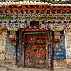 An old Tibetan house in a small Tibetan village.