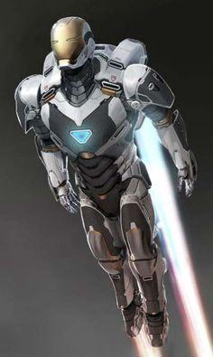 Iron Man 3 space armor concept art