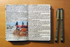 The HikeGuy Traveljournal on Moleskine http://www.thehikeguy.com/2011/11/10/pct-moleskines/