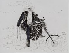 Ben Templesmith Ghost Rider pitch, in the March 2007: Ghost Rider, 300, or Both! Comic Art Sketchbook