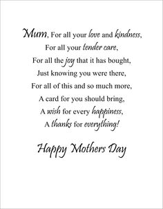 mothers-day-poems You are in the right place about Mothers Day Cards for teens Here we offer you the Short Mothers Day Poems, Mothers Day Verses, Mothers Day Sentiments, Mother Poems, Mom Poems, Happy Mother Day Quotes, Card Sentiments, Mothers Day Cards, Mom Quotes