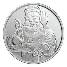 """20 /""""Christmas Santa HO HO HO/"""" 1oz .999 Copper 20 beautiful rounds"""