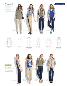 Blue is the color of the season! This is a great Casual Wardrobe Capsule from Jockey Person to Person