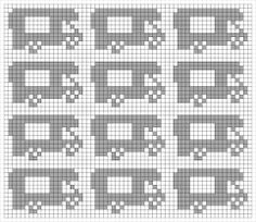 Pildiotsingu knitting chart kuvio tulemus