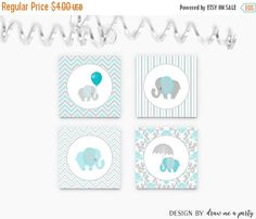 ON SALE Elephant Cupcake Toppers  Elephant by DrawMeAParty on Etsy