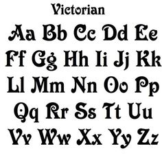Ten Great Victorian Tattoo Fonts Ideas That You Can Share With Your Friends Victorian Fonts, Victorian Tattoo, Mdf Letters, Uppercase And Lowercase Letters, Bullet Journal Font, Cool Fonts, Awesome Fonts, Funky Fonts, Handwriting Fonts