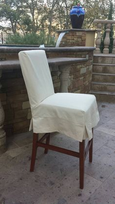 Custom Barstool/Counter Stool Slipcover by CustomChairCoverings